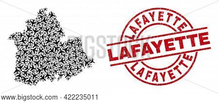 Lafayette Rubber Seal, And Sevilla Province Map Collage Of Air Force Elements. Collage Sevilla Provi
