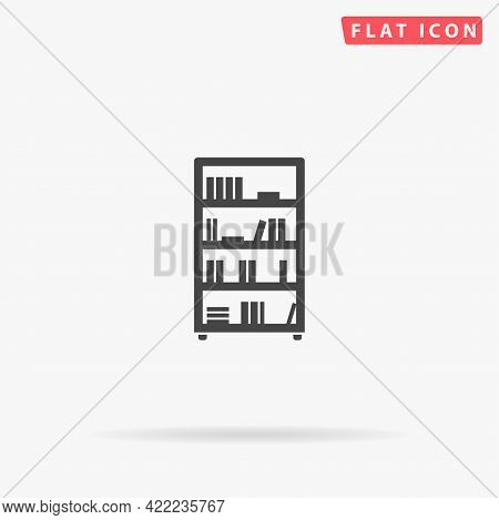 Bookcase Flat Vector Icon. Hand Drawn Style Design Illustrations.