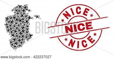 Nice Rubber Seal Stamp, And Burgos Province Map Mosaic Of Aeroplane Items. Mosaic Burgos Province Ma