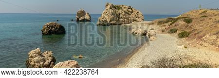 View At Aphrodite's Rock And Beach On Cyprus