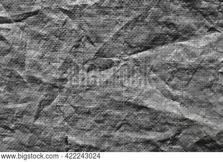 Old Fabric Texture Background Surface. Top View Of Fabric Texture Backgrounds Surface. Vintage Tarp