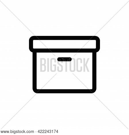 Box Icon Isolated On White Background. Box Icon In Trendy Design Style For Web Site And Mobile App.