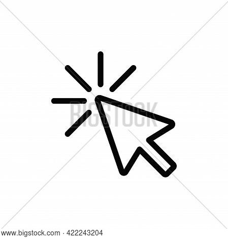 Click Icon Isolated On White Background. Click Icon In Trendy Design Style For Web Site And Mobile A