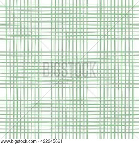 Vector Woven Fabric Texture In Square. Seamless Pattern Of Textile. Repeating Linen Or Cotton Textur