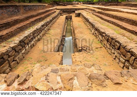 A Pool In The Garden Complex Of Sigiriya Palace Sri Lanka. Sigiriya Has Water Gardens A Complex Hydr
