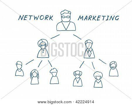 Network Marketing Illustration