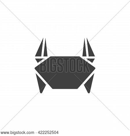Crab Origami Vector Icon. Filled Flat Sign For Mobile Concept And Web Design. Paper Crab Glyph Icon.