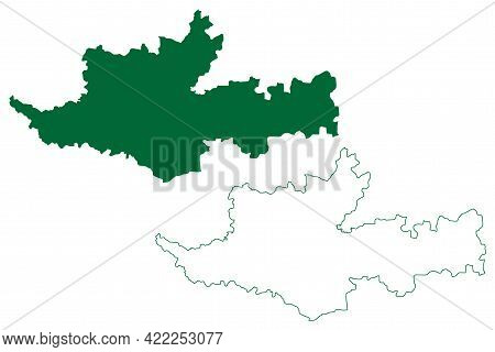 Sangli District (maharashtra State, Pune Division, Republic Of India) Map Vector Illustration, Scrib