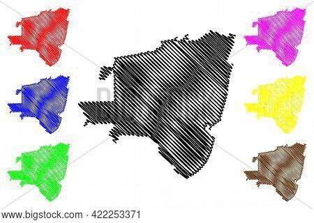 El Monte City, California(united States Cities, United States Of America, Usa City) Map Vector Illus