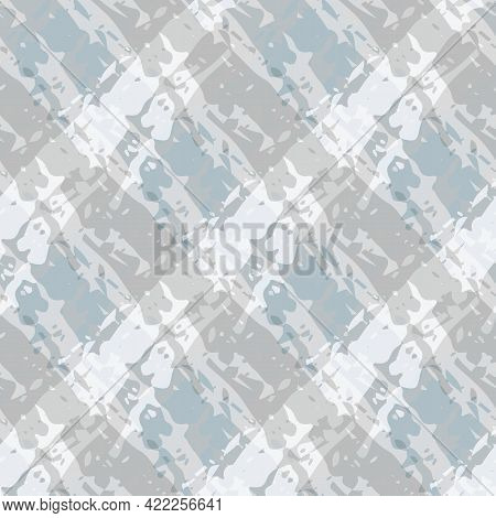 Vector Marbled Weave Style Seamless Pattern Background. Painterly Brush Effect Criss Cross Backdrop.