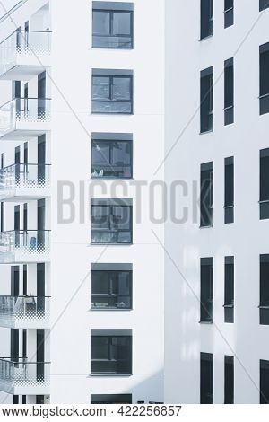 Newly Built Apartment Buildings, Architecture And Residential Real Estate Concept