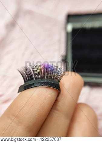 Fake Mink Lashes For Lash Extensions In Beauty Salon