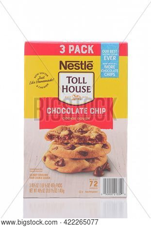 IRVINE, CALIFORNIA - 28 MAY 2021: A box of Nestle Toll House Chocolate Chip Cookie Dough.