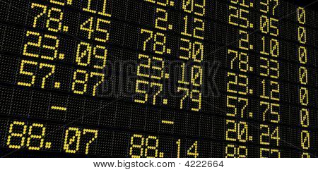 Stock Exchange Table