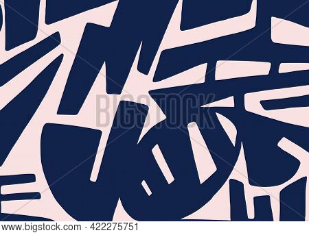 Two-tone Contrasting Design With Abstract Pattern Of Different Shapes