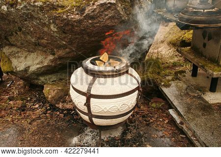 Tandoor Is A Cylindrical Clay Or Metal Oven Used In Cooking And Baking In Northern Indian Subcontine