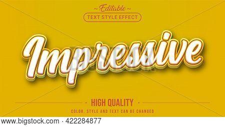 Editable Text Style Effect - Impressive Text Style Theme. Graphic Design Element.
