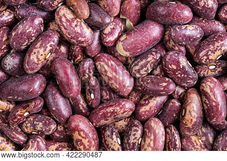 Food Background - Raw Red Spotted Pinto Beans