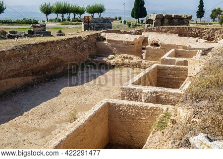 Underground Sarcophagus That Have Been Excavated In Necropolis Of Antique City Hierapolis, Pamukkale