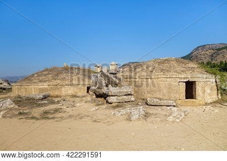 2 Unusual Antique Crypts In Form Of Tumulus, Built In Late Hellenistic Age. Structures Made Of Trave