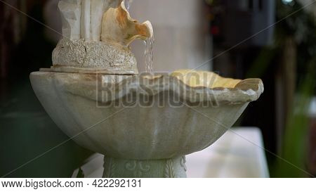 Portable Indoor Fountain For Good Feng Shui In Home Or Office. Small Indoor Tabletop Fountain With W