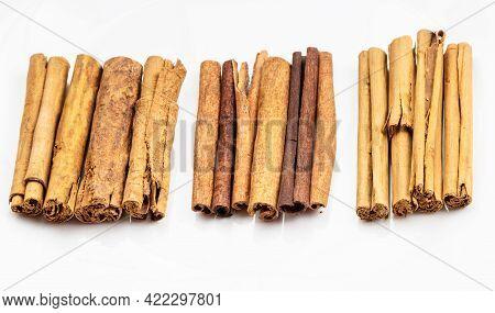 Different Cinnamon Sticks (alba Premium Ceylon, Chinese Cassia And Continental Ceylon Cinnamon) On W