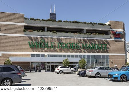 Chicago - Circa May 2021: Whole Foods Market. Amazon Is Expanding Whole Foods Delivery In Different