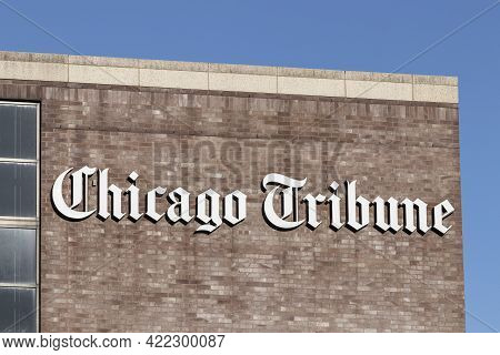 Chicago - Circa May 2021: Chicago Tribune Former Distribution Facility. The Chicago Tribune Is The M
