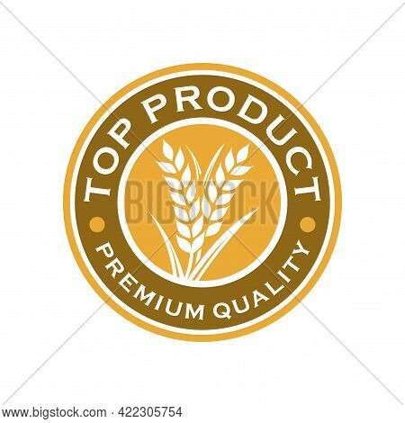 Wheat Bakery Logo. Wheat Rice Agriculture Logo Inspiration Template Vector