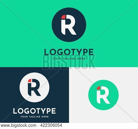 Letter R, Ir. Uppercase Letter R With Uppercase Letter I Minimalistic Modern Logo Design Template Fo