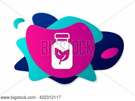 Color Fertilizer Bottle Icon Isolated On White Background. Abstract Banner With Liquid Shapes. Vecto