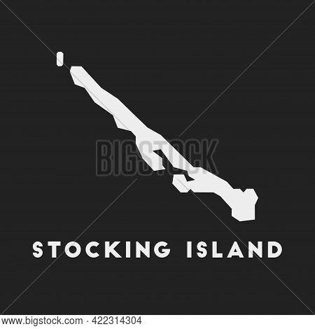 Stocking Island Icon. Island Map On Dark Background. Stylish Stocking Island Map With Island Name. V