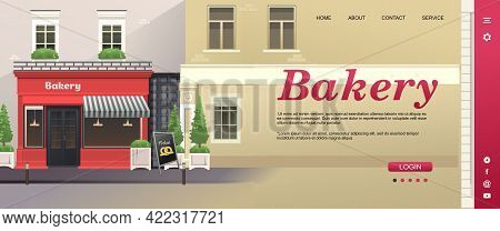 Store Or Coffee Shop Website Concept Banner Template For Product Catalog Or Delivery, Home Page Vect