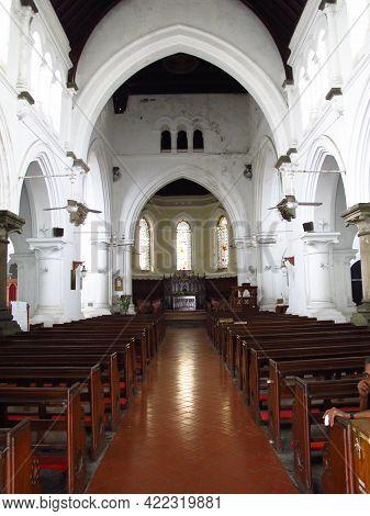 Galle, Sri Lanka - 10 Jan 2011: All Saints Anglican Church In Galle, Sri Lanka