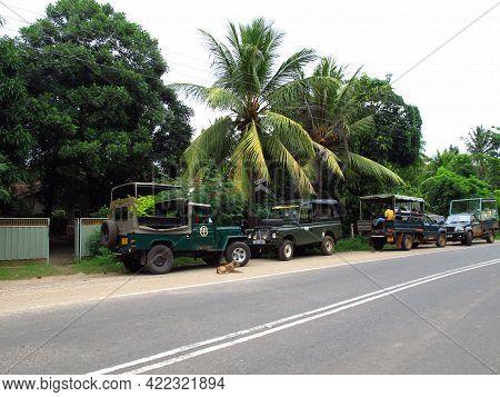 Yala, Sri Lanka - 09 Jan 2011: Cars For The Safari In Yala National Park, Sri Lanka