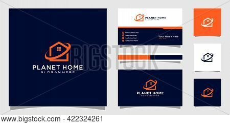 Planet Home Build Abstract For Logo And Business Card Design