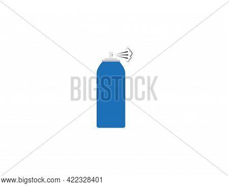 Aerosol, Bottle, Spray Icon. Vector Illustration. Flat Design.