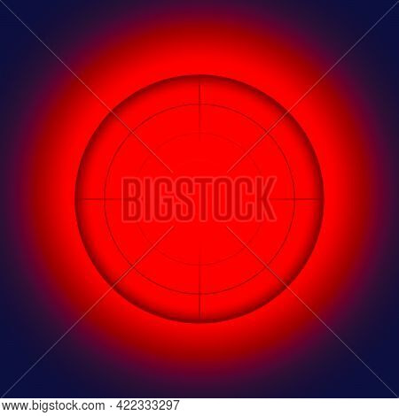 Red Alarm Light. The Red Light Indicates An Alarm.