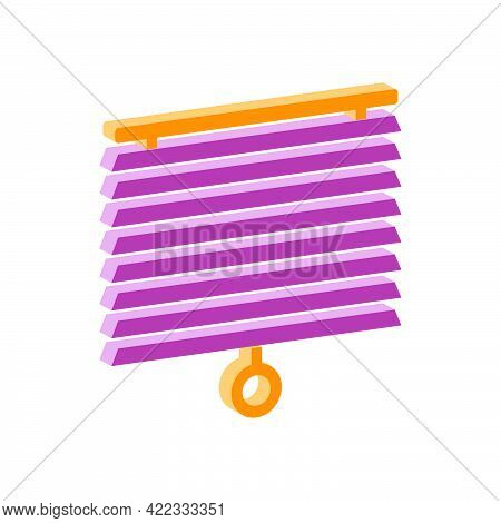 Jalousie Icon Isolated On White Background.isometric And 3d View.