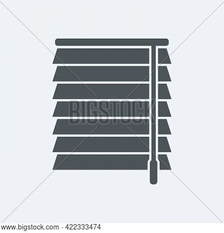 Jalousie Icon In Flat Style Isolated On White Background.vector Illustration.