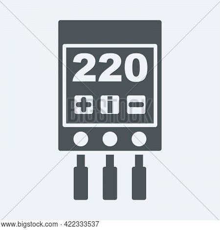 Voltage Relay Icon Isolated On White Background.vector Illustration.