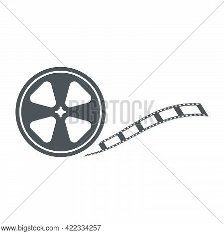 Bobbin Icon In Flat Style Isolated On White Background.vector Illustration.