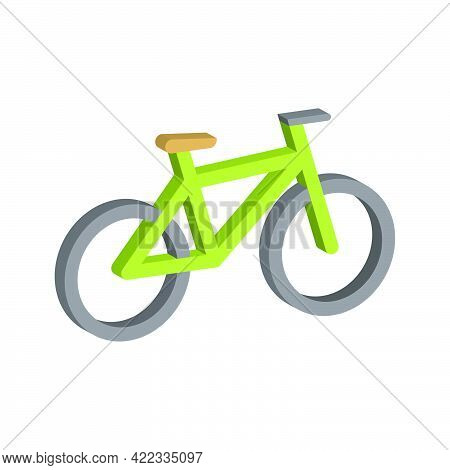 Bike Icon Isolated On White Background.3d Vector Illustration And Isometric View.