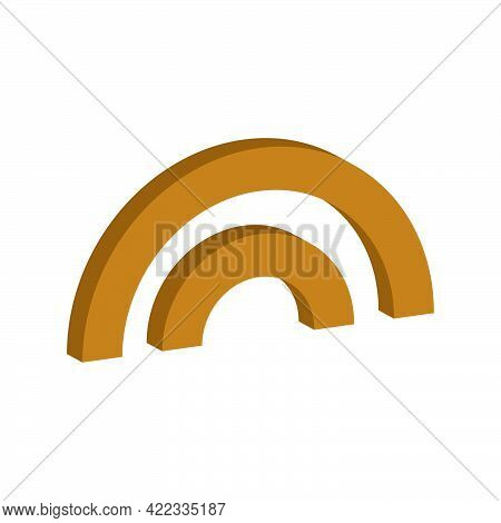 Bridge Icon Isolated On White Background.3d Vector Illustration And Isometric View.