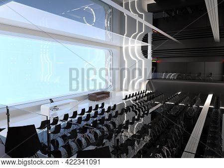 3d Rendering Of A Science Fiction Auditorium Interior