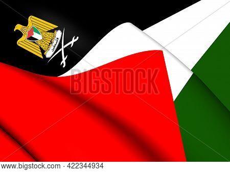 3d Flag Of The Palestine. 3d Illustration.