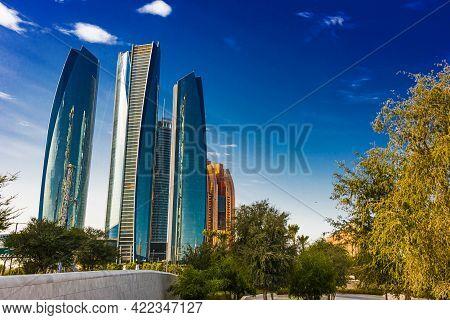 Etihad Towers In Abu Dhabi, United Arab Emirates