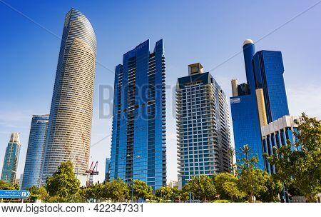 Modern Architecture Of Downtown Abu Dhabi, Uae
