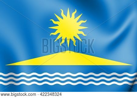 3d Flag Of Solnechnogorsk (moscow Oblast), Russia. 3d Illustration.