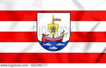 3d Flag Of Wismar (mecklenburg-vorpommern), Germany. 3d Illustration.